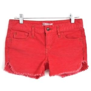 Free People Shorts Corduroy Cutoff Jeans 27